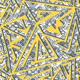 Yellow color geometric pattern Royalty Free Stock Photo