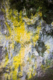 Yellow color on gray rock Royalty Free Stock Photography