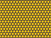 Yellow color Honeycomb Pattern Background Royalty Free Stock Photos