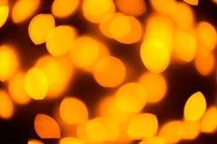 Yellow color light blurred bokeh background, unfocused. Royalty Free Stock Photography