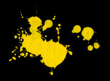Yellow Color Paint Splatter Royalty Free Stock Images