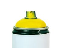 Yellow color spray Royalty Free Stock Photo