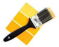 Yellow color swatch Royalty Free Stock Photography