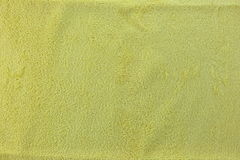 Yellow color Texture of microfiber Cloth. Royalty Free Stock Photo