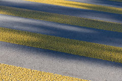 Yellow color traffic zebra crossing Stock Image