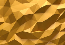 Yellow color triangle geometrical background Royalty Free Stock Images