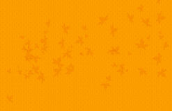 Yellow color wave background with maple leaves Stock Photography