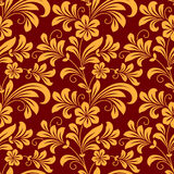 Yellow colored floral seamless pattern Royalty Free Stock Images