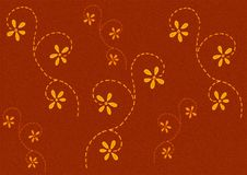 Yellow Colored Flowers Pattern Stock Photography