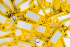 Yellow colored key rings Royalty Free Stock Photo
