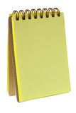Yellow colored notepad Stock Photography