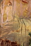 Yellow colored rock structure, Roussillon, France Royalty Free Stock Photo