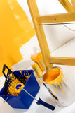 Yellow Colored Room Royalty Free Stock Photography