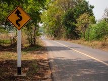 Sign zigzag way. Stock Images