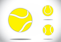 Yellow colorful Tennis balls symbol icon set conce Royalty Free Stock Image