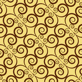 Yellow Colors Art Deco Style lattice Pattern design. Original Pa Royalty Free Stock Photo