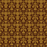 Yellow Colors Damask Style Pattern design. Original Pattern and Stock Images