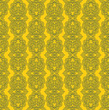 Yellow Colors lotus Flower Pattern Design. Korean traditional Pa Royalty Free Stock Photos