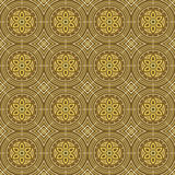 Yellow Colors Round grid Pattern. Korean traditional Pattern Des Royalty Free Stock Image