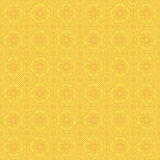 Yellow Colors Square grid Pattern design. Korean traditional Pat Royalty Free Stock Photos