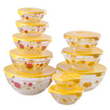 Yellow colour plastic food containners Royalty Free Stock Photography