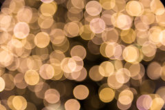 Yellow Colourful Christmas Bokeh Background Royalty Free Stock Photos