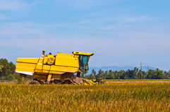 Yellow harvester Royalty Free Stock Image