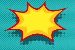 Free Yellow Comic Book Background Explosion Bubble Royalty Free Stock Photo - 103191535