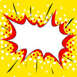 Yellow comic style explosion background Royalty Free Stock Images