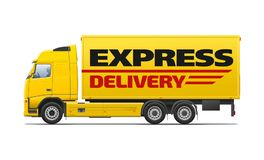 Yellow commercial transport Royalty Free Stock Photo