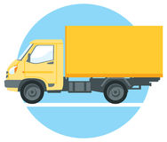 Yellow commercial truck Royalty Free Stock Photos