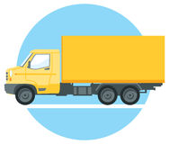 Yellow commercial truck Royalty Free Stock Photography