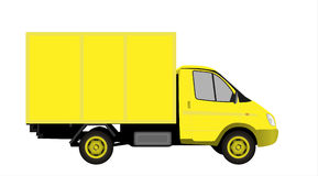 Yellow commercial vehicle  vectror illustration Stock Images