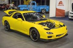 Yellow compact car Royalty Free Stock Photos