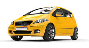 Yellow Compact Car Royalty Free Stock Photo