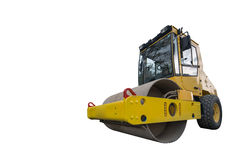 Yellow compactor Stock Image