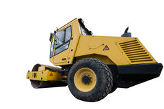 Yellow compactor Stock Photography