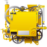 Yellow complex fantastic machine Royalty Free Stock Photography