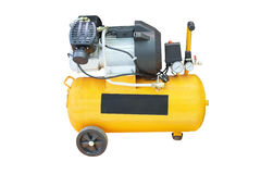 Yellow compressor Royalty Free Stock Images