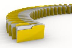 Yellow computer folder on white background Stock Image