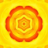 Yellow Concentric Flower Center. Mandala Kaleidoscopic design. Yellow Concentric Flower Center Macro Close-up. Mandala Kaleidoscopic design stock photo