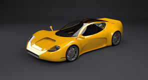 Yellow Concept Sports Car Royalty Free Stock Images