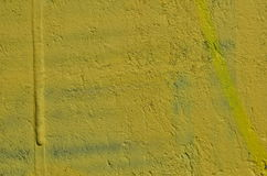 Yellow concrete background. Rough concrete wall painted in yellow color Royalty Free Stock Photography