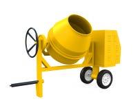 Yellow Concrete Mixer vector illustration
