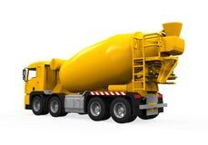 Yellow Concrete Mixer Truck vector illustration
