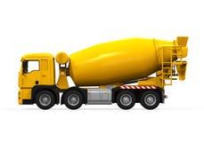 Yellow Concrete Mixer Truck Royalty Free Stock Image