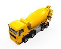 Yellow Concrete Mixer Truck Stock Photo