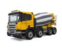 Yellow Concrete Mixer Truck Royalty Free Stock Photo