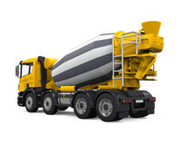 Yellow Concrete Mixer Truck Royalty Free Stock Images