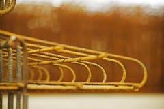yellow concrete reinforcement Royalty Free Stock Photos